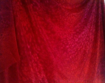 Red Pink Watermelon Silk belly dance veil or yardage fabric