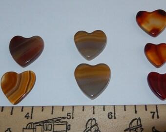 Polished flat Carnelian Heart