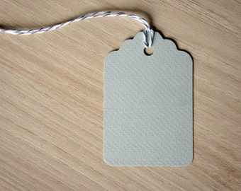 10 Large pale grey gift tags - Vintage style gift tag - Classic style gift tag - Hang Tag - Scrapbooking - Crafting - Set of 10
