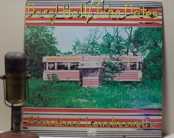 """ON SALE Hall and Oates Vintage Vinyl Record White Boy Soul Album LP, Hall & Oates """"Abandonded Luncheonette"""" (Orig. 1973 Atlantic w/""""She's Go"""