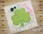 ST Patrick's Day Shamrock Applique Shirt -Saint Patrick Shirt- Can Be Personalized