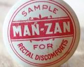 MAN-ZAN Rectal Cream Sample Tin Ring