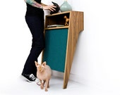 Cat Console /// Mid Century Modern Pet Furniture // Cat Scratcher // Console Table