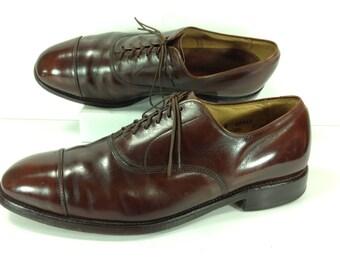 allen edmonds shoes mens 8.5 D brown captoe oxford dress shoes park avenue