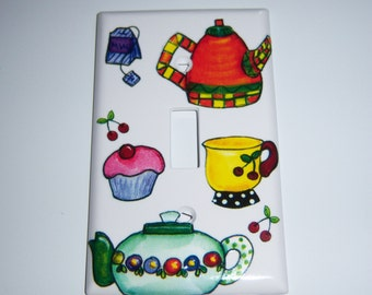 Tea time single light switch cover