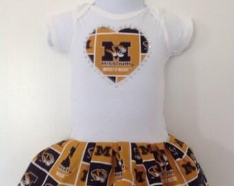 University of Missouri Inspired Infant Dress