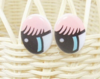 10 pairs cartoon doll eyes for dollmaking or doll repair 14X16mm