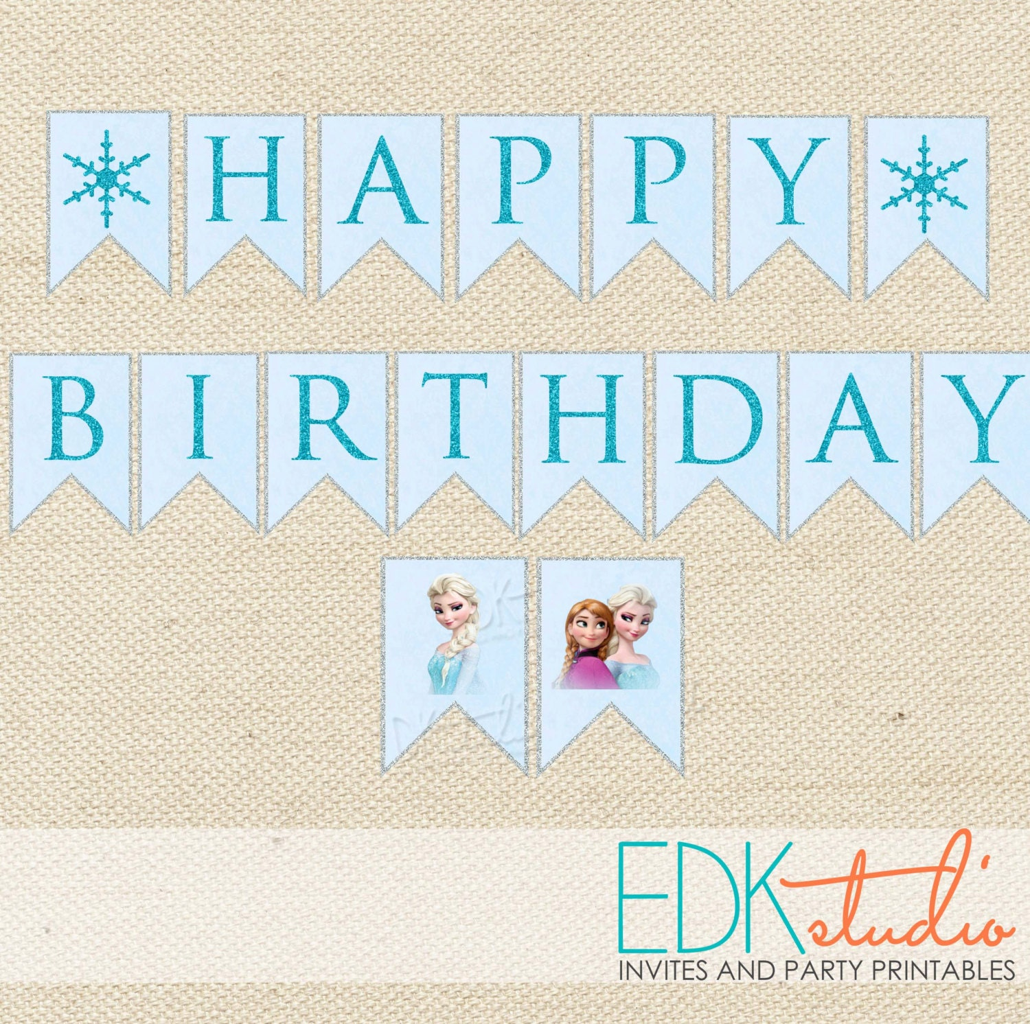 FROZEN Party//Birthday Banner//Printable Instant Download