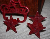 SALE-4 Red Lone Star Knobs
