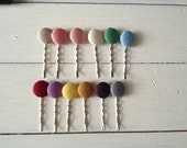 MOVING ON SALE Fabric Hair Pins