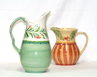 Gail Pittman Pitcher vintage green