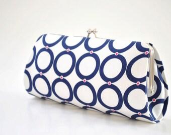Rings in Blue - Bridesmaid Clutch -Wedding clutch - Gift idea