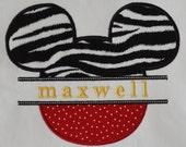 Machine Embroidery Design Split Mouse Applique