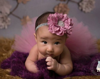 Antique Rose tutu and headband, newborn tutu, newborn photography prop, baby tutu, birthday tutu