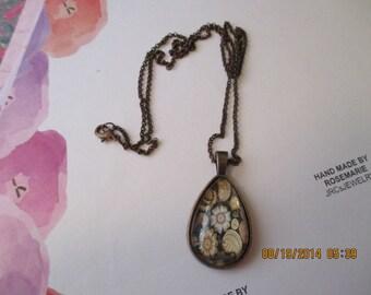 Brown Paisley design Necklace