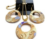 Gold Leaf Necklace and Earring Set