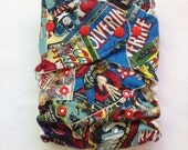 One Size Fitted Hybrid Diaper made with Marvel Cotton Fabric