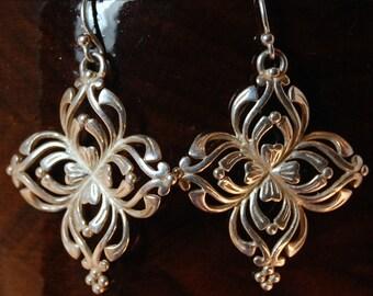 Sale! Save 20%! Sterling Silver Cruciform Earrings