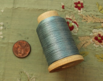 Large spool pure silk thread 2356 size B bead cord jewelry sewing projects soft blue shade shade 520 yards