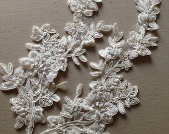 Ivory Bridal Lace applique - AppSet-24