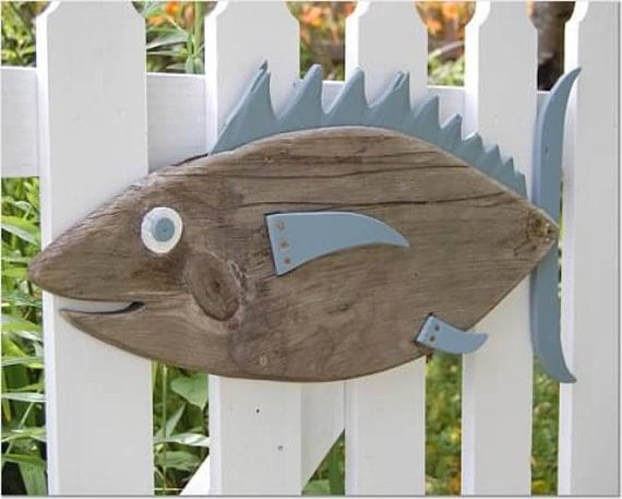Items similar to fish decor photo wooden fish photo tans for Bathroom fish decor