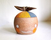 Beastie Lidded Container with Wood Handle