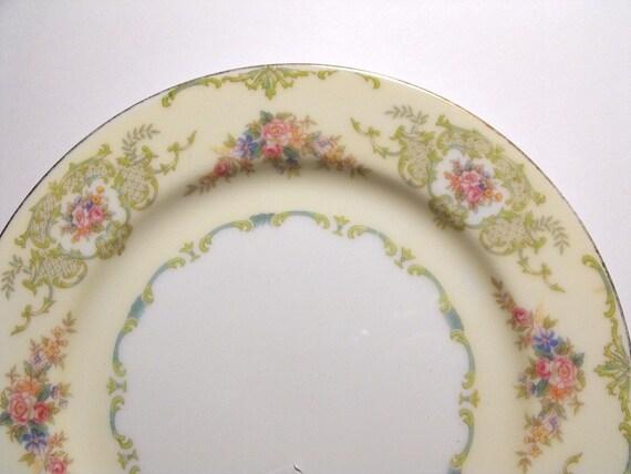 1930 S Noritake Plate Glendola Pattern Number 95648
