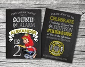 Little Fireman Invitations and Thank You cards (sold separately)