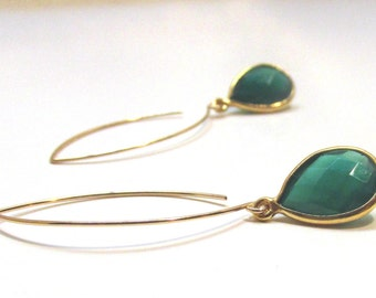 Green Onyx in 14k Gold Filled