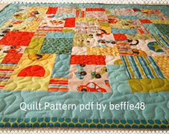 Pattern, Charm Pack, Magic 9 Block Quilt Pattern Tutorial, pdf,