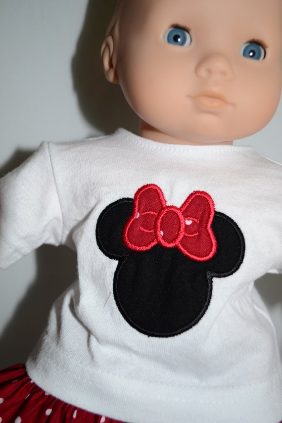 Bitty Baby Doll Clothes Minnie Mouse Applique Shirt And