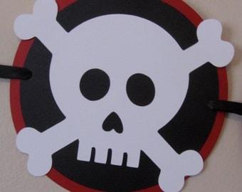 Pirate skull and crossbones Happy Birthday Banner