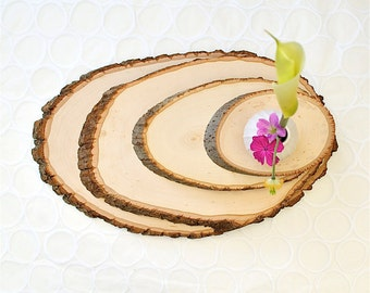 Large Rustic Wood Tree Slice Centerpieces Wedding Decorations Wooden Rounds