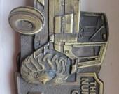 Vintage Brass International Harvester Belt Buckle