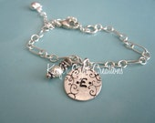 Baby/Girl Hand stamped Inital bracelet