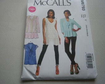 Pattern Ladies Tops 4 Styles Sizes 4 to 14 McCalls 6793