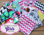 Reusable Snack and Sandwich Bag Bundle - Girls Grab Bag set - Free Shipping