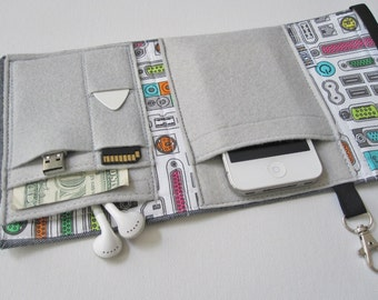 Nerd Herder gadget wallet in Connected for iPhone 5, Android, iPhone 6, MP3, digital camera, smartphone, guitar picks
