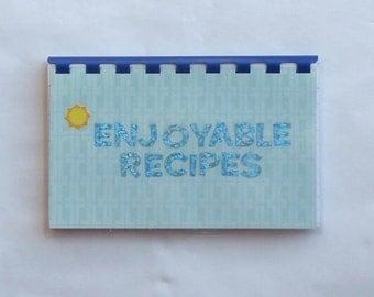 "Handmade ""Enjoyable Recipes"" Blank Recipe book"