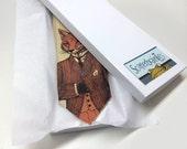 Scatterbrain Ties Necktie Gift Box - White