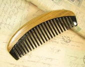 Buffalo Horn and Verawood Wide Teeth Hair Comb