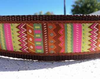 """Sale Large Dog Collar 1.5"""" Martingale collar or Side Release buckle Southwest Taos - see 1"""" listing within"""