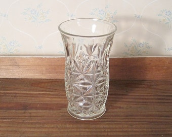 Vintage Pressed Glass Vase