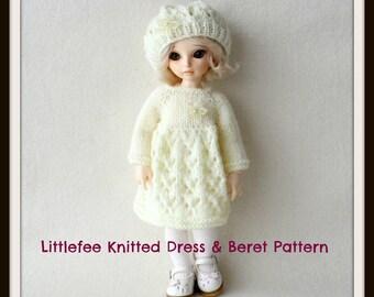 Instant Download PDF Dress & Beret Pattern for Littlefee