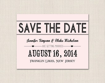BOLD TYPOGRAPHY Save the Date - DEPOSIT