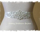 Rhinestone Crystal Bridal Belt, Jeweled Wedding Sash, Wedding Belts and Sashes, Wedding Gown Belt, Rhinestone Bridal Sash, No. 2046S1161-1.5