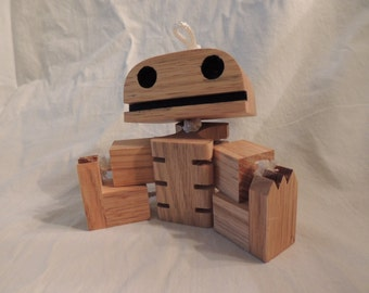 Wooden skeleton robot