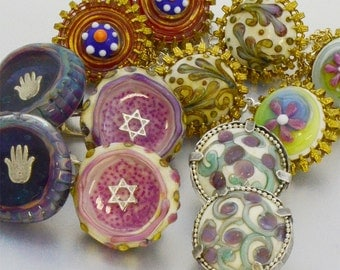 Personal Tallit Clips to match your own Tallit design - Special gift for Bar/Bat Mitzvah