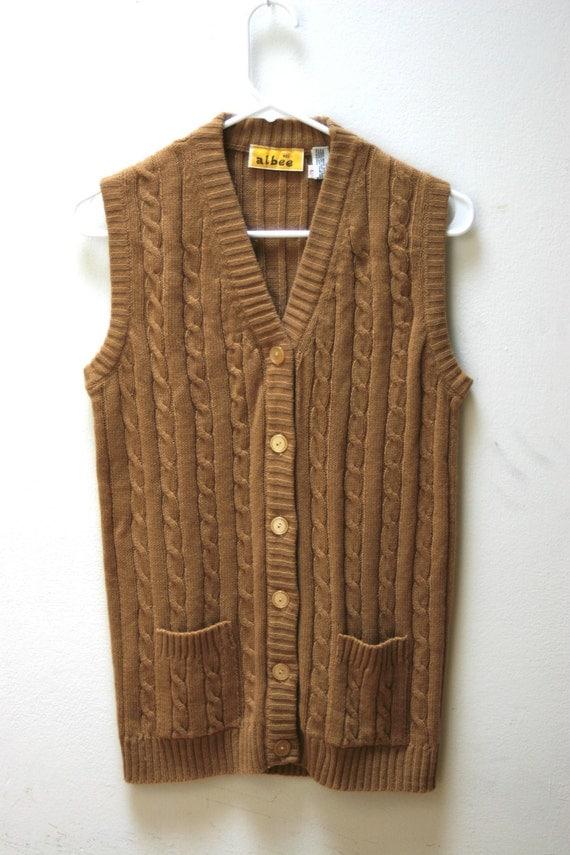1960's Knit Sweater Vest Size L
