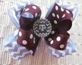 2561 Texas A&M Aggie double boutique hair bow